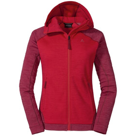Schöffel Cambrai Hoodie Forro Polar Mujer, hibiscus